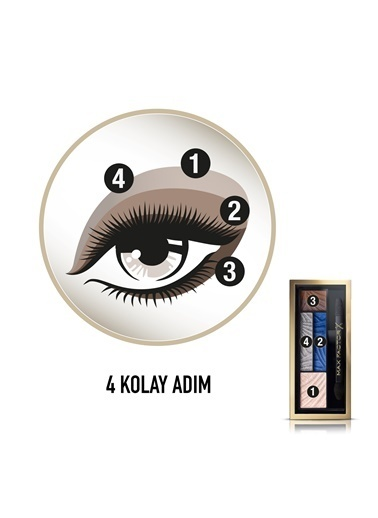 Smokey Eye Drama Kit 4'Lü Far Paleti  06 Azzure Ailure-Max Factor
